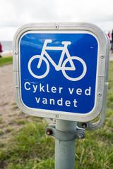 Fahrradschild in Dänemark Esbjerg