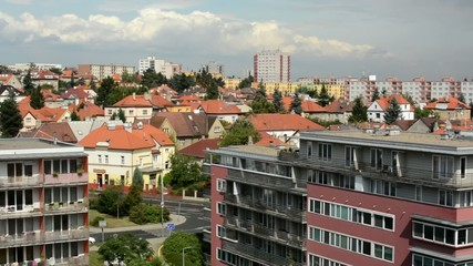 panorama of the city (buildings) - modern block of flats