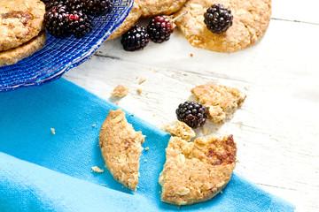 breakfast cookies with wild blackberries