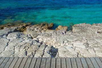 Kassiopi Beach in the island of Corfu Greece