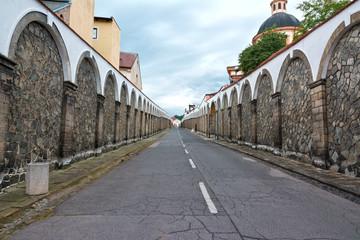 Long street to castle Decin