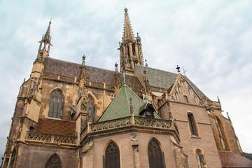 La collégiale de Thann, Alsace, Haut Rhin