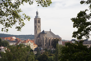 View on church of St. James in town Kutna Hora
