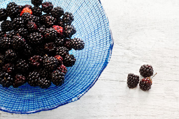 wild blackberries just picked