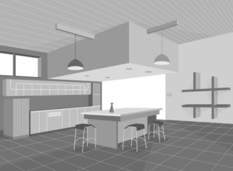 Kitchen layout,home interior