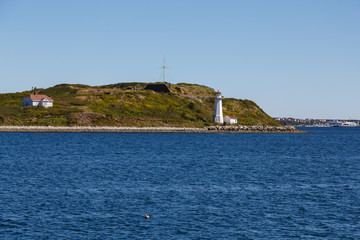 Lighthouse on Shore of Island Near Halifax