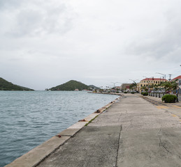 Pier Along Harbor in St Thomas