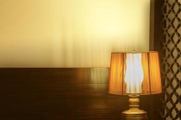 Luxury lamp on table