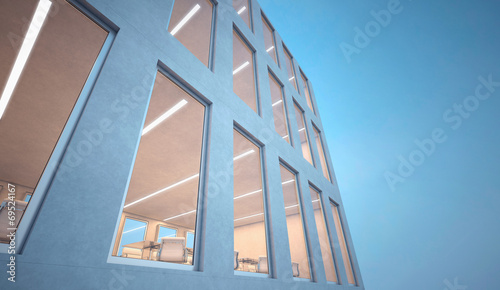 Leinwanddruck Bild Modern office building exterior
