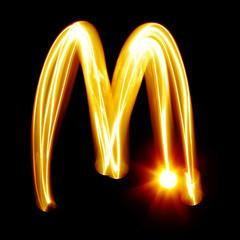 Created by light alphabet