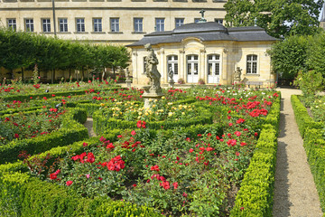 Residenz palace garden, The famous rose garden, Bamberg, Germany