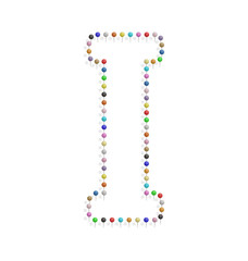 letter i with pushpin