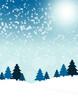 canvas print picture - Blaue Weihnachtskarte