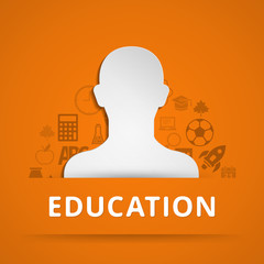 Flat design concept icons for education. Vector illustration