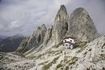 in der cadini gruppe in Südtirol mit fonda savoi Hütte