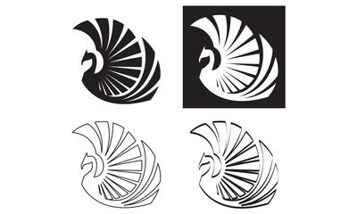 Stylized Phoenix, Vector illustration