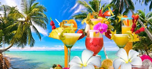 Deurstickers Caraïben Cocktail-Party :)