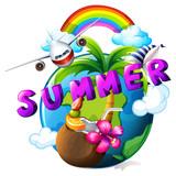 Summar vacation poster