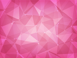abstract background polygon geometric of pink color