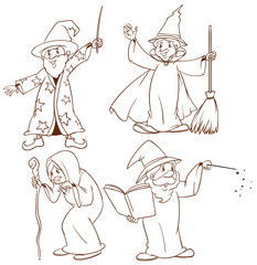 Sketches of wizards
