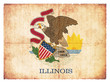 Grunge-Flagge Illinois (USA)