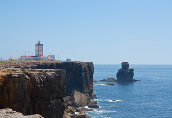 water and rock in Peniche, Portugal city.