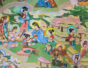 Chinese mural painting art
