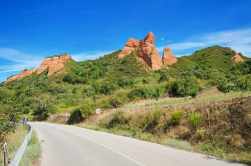 Mountain road in Las Medulas, ancient roman mines, Leon, Spain.