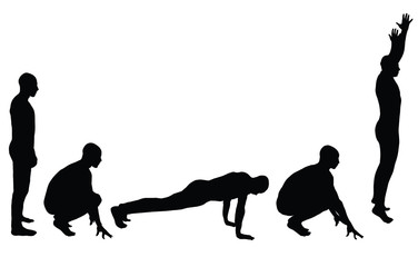 Burpees Ecercice Silhouette