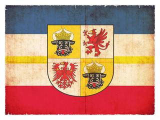Grunge-Flagge Mecklenburg-Vorpommern  (Deutschland)