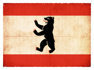 Grunge-Flagge Berlin (Deutschland)