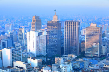 Downtown Sao paulo in the evening time