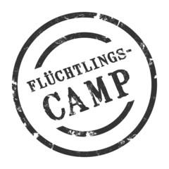 sk78 - StempelGrafik Rund - Flüchtlingscamp - g1498