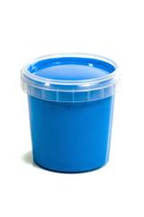 jar with blue gouache