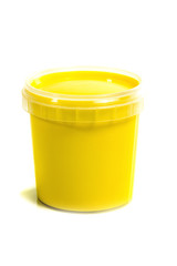 jar with yellow gouache