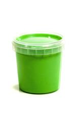 jar with green gouache