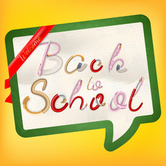 Back to school background. EPS 10