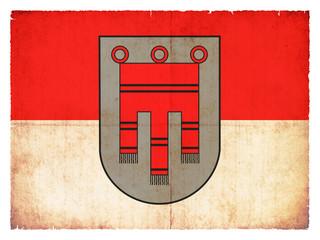 Grunge-Flagge Vorarlberg (Österreich)
