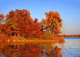 Fototapety Autumn landscape in twilight