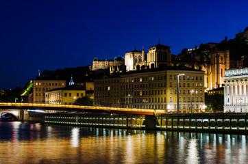 Lyon, nuit, Fourvière