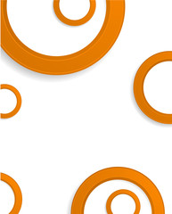 orange circle design background