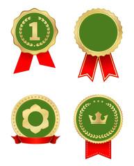 award label gold green