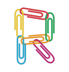 letter r with clips