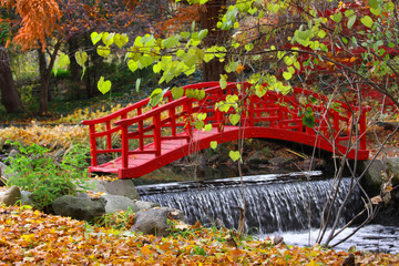 Red color bridge