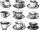 collection of the teacups