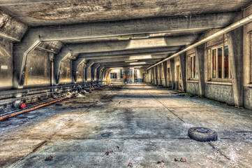 Abandoned underground parking garage