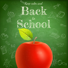 Welcome back to school template. EPS 10