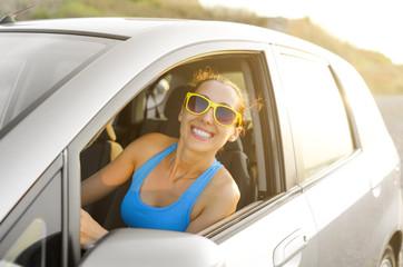 Car driver happy
