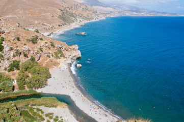 Preveli lagoon.Crete island, Greece.