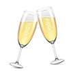 Two champagne glasses vector illustration - 69534534